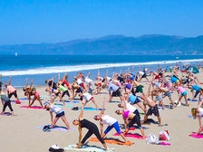 Beach Yoga with Brad and Friends