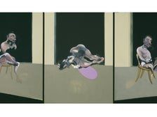 """Triptych—August 1972"" by Francis Bacon at the Getty Center"
