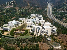 Aerial view of the Getty Center