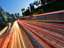 Los Angeles freeway lights