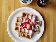 Hickory maple waffle at The Peach Café