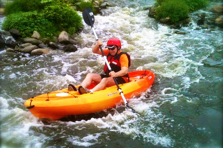 Shooting the rapids in the Glendale Narrows