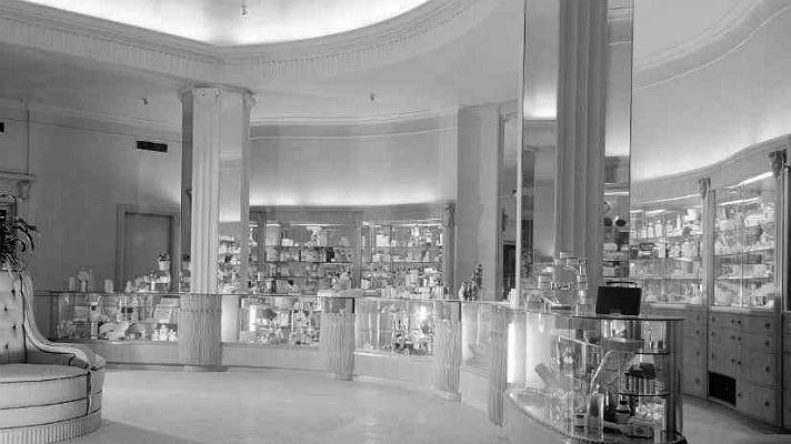 Cosmetics counter at Saks Fifth Avenue Beverly Hills