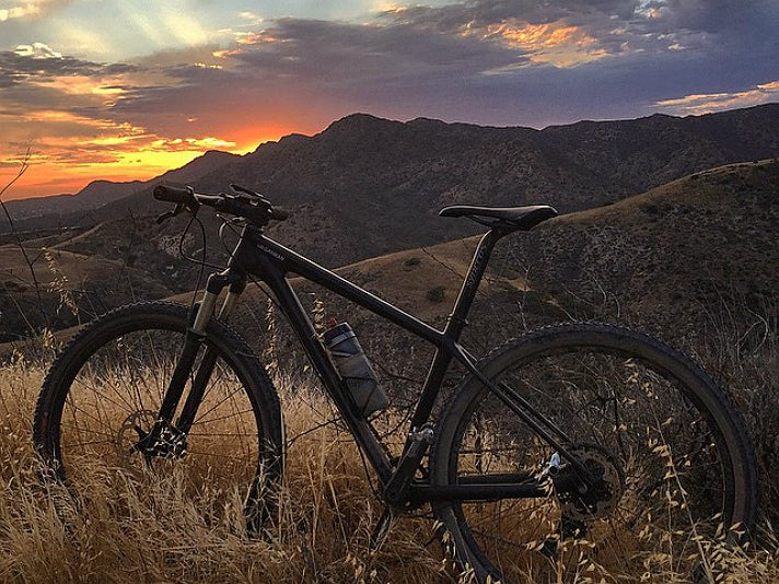 Mountain bike at Cheeseboro Canyon Trail
