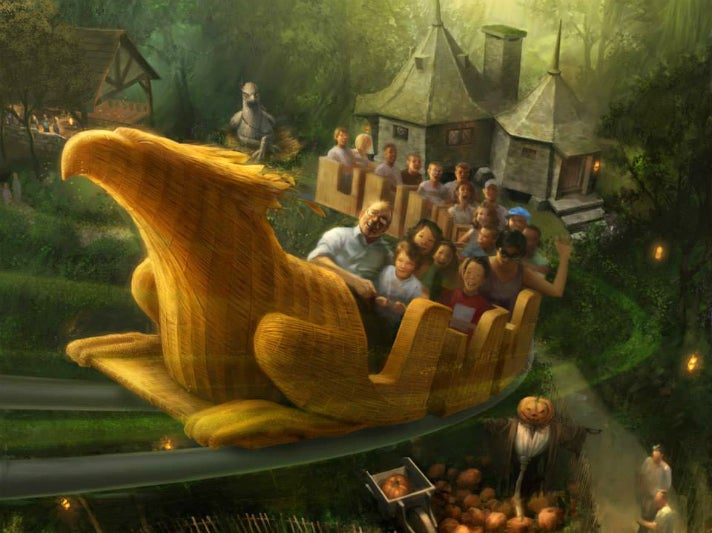 """Flight of the Hippogriff"" at Universal Studios Hollywood"