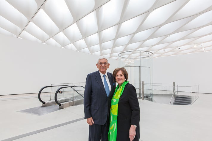 Eli and Edythe Broad at The Broad museum