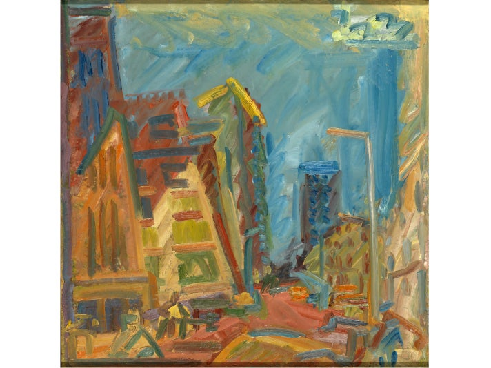 """""""Mornington Crescent—Summer Morning,"""" 2004, Frank Auerbach at the Getty Center"""