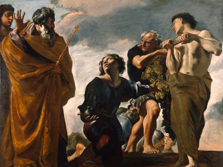 """Moses and the Messengers from Canaan"" by Giovanni Lanfranco at the Getty Center"