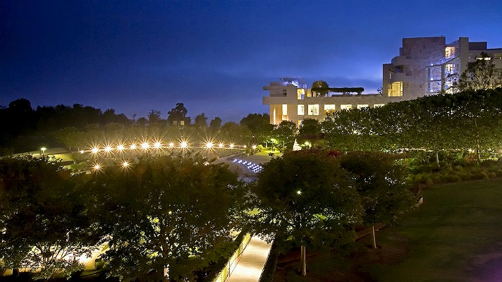 Getty Center at night