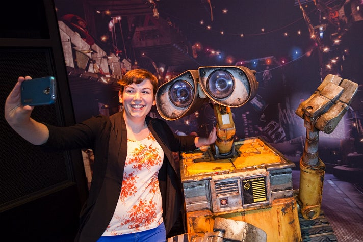 "Learn how cameras tell a story while taking a selfie with WALL•E at ""The Science Behind Pixar"""