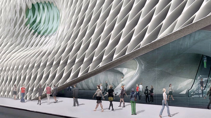 Rendering of The Broad museum entrance