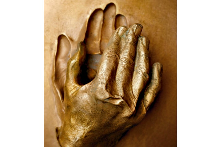 """""""Cast of the Hand of Blessed John Paul II"""" from """"Vatican Splendors"""" at the Reagan Library"""