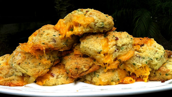 Bacon cheddar biscuits at Manhattan Beach Post