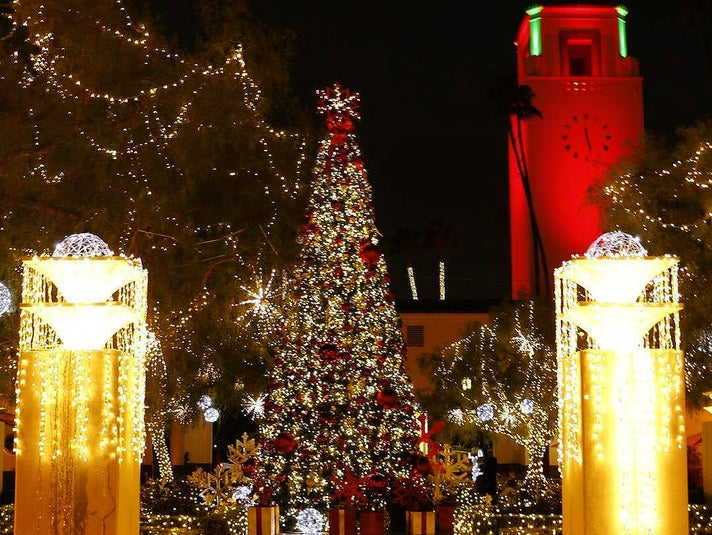 Christmas tree at Union Station in Downtown L.A.