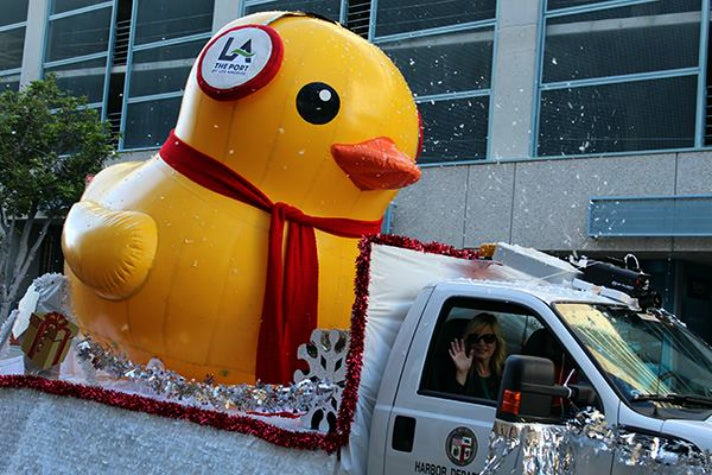 Timmy the Duck at the Spirit of San Pedro Holiday Parade