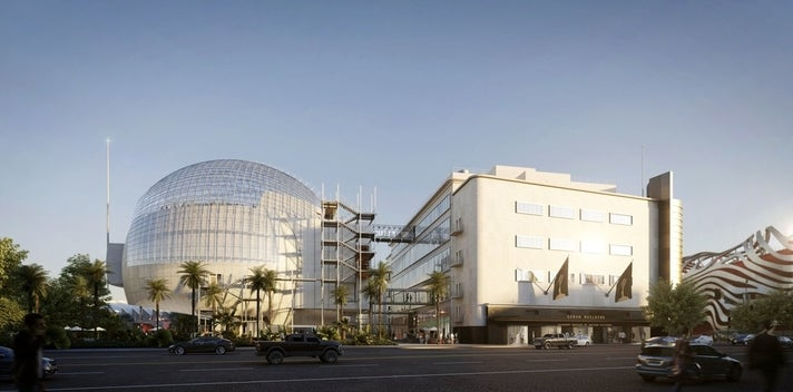 Rendering of the Academy Museum of Motion Pictures