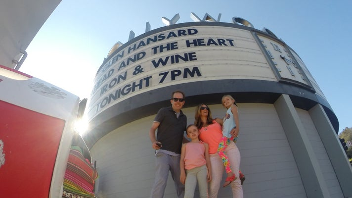 Family photo at the Hollywood Bowl