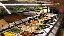 Salad and hot food bar at Co-Opportunity