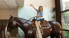 Girl on a horse at the Autry National Center