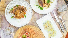 Dishes at The Restaurant at The Standard, Downtown L.A. by Studio DIY