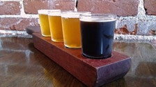 Beer flight at The Bottle Room