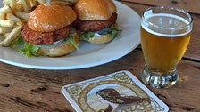 Beer and salmon sliders at Ladyface Alehouse & Brasserie