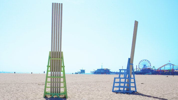 Singing Beach Chairs in Santa Monica