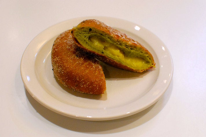 Green tea donut at Cafe Dulce
