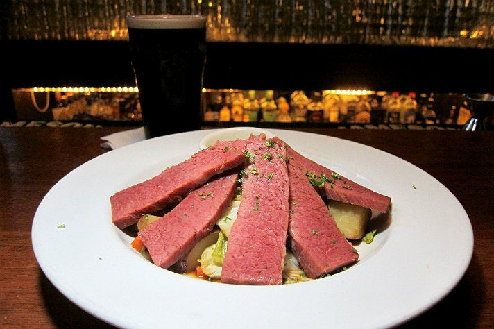 Corned beef at Casey's Irish Pub