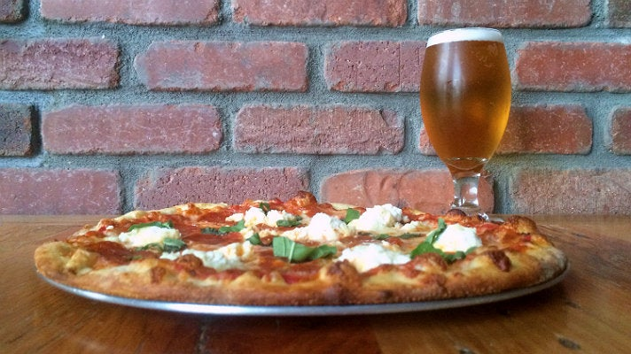 Pizza and beer at The Doughroom