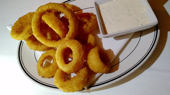 Onion rings at The Grill On the Alley