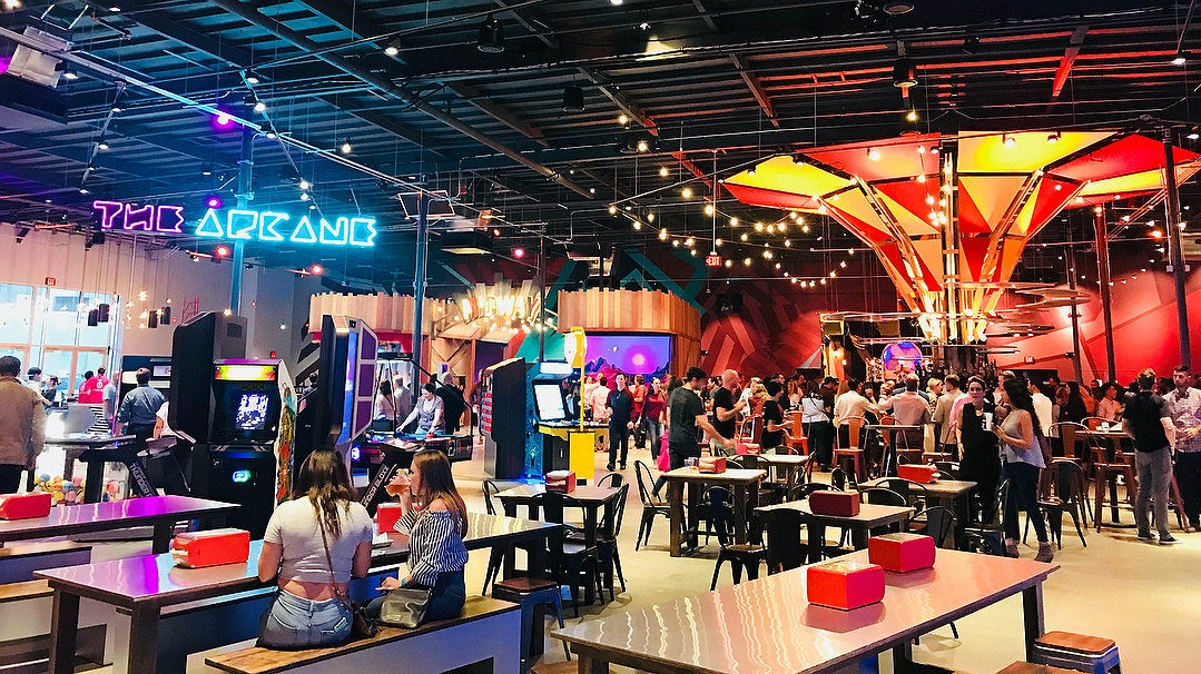Arcane Arcade and Big Top Bar at Two Bit Circus