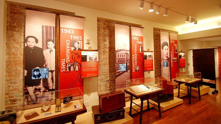 """Journeys"" exhibit at the Chinese American Museum"